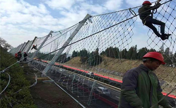 菱形被动防护网工程案例